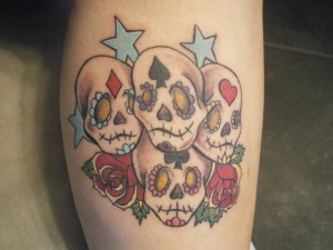 newschool-losmuertos-skulls-stars-tattoo