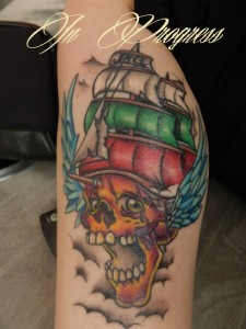 pirateship-skull-flag-tattoo